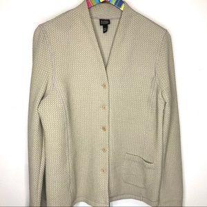 Eileen Fisher Waffle Knit Unlined Jacket/Cardigan